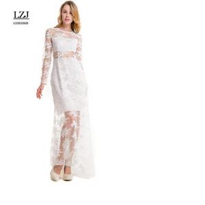 Verão sexy novo vestido das mulheres bordado net fio oco perspectiva lace party dress vestido de festa plus size L6 T5190605
