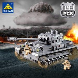 1193Pcs Большой Panzer IV Tank Строительные блоки WW2 Military LegoINGLs Technic Juguetes Кирпичи АРМИЯ Сборка игрушки для детей