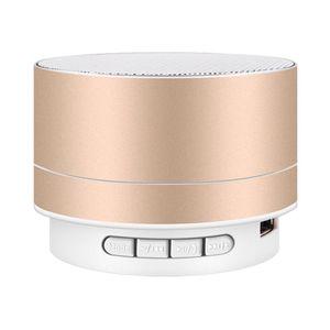 패션 블루투스 스피커 금속 무선 휴대용 미니 마이크 핸드프리 호출 LED TF 카드 작은 철강 총 A10