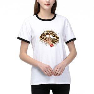 Neuer Ankunfts-Frauen-T-Shirt Art und Weise beiläufige Damen DIY-T-Shirts für den Sommer heißen Verkaufs-Frauen DIY-T-Shirts mit Printed 2 Farben Größe S-2XL