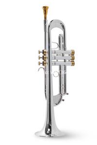 المهنية جميل LT197GS-77 B البوق شقة مطلية بالفضة عالية الجودة آلة موسيقية مع حالة لسان الحال شحن مجاني