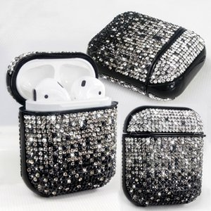 Luxury Design Rhinestone Earphone Case For Airpods 1 2 3 Headset Cover High Quality Shiny Diamond Earphones Protector Cell Phone Accessories