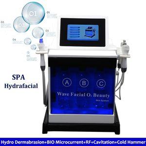5 en 1 Hydro Microdermabrasion Spa Facial Machine Limpieza de poros de la piel Bio Rf Cooling Hydra Machine Dermabrasion de agua Facial Blanqueamiento de la piel