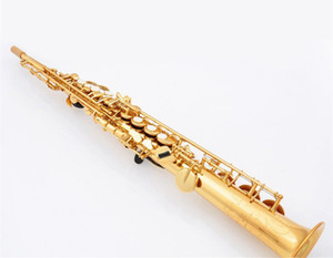 Straight pipe soprano sax B Flat YSS-475 Brass musical instruments professional-grade with case. Mouthpiece Reed