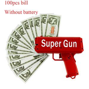 TUKATO Make It Rain dinheiro Gun Red Caixa Canhão Super Gun Brinquedos 100PCS Bills Party Game diversão ao ar livre moda presente Pistola Brinquedos