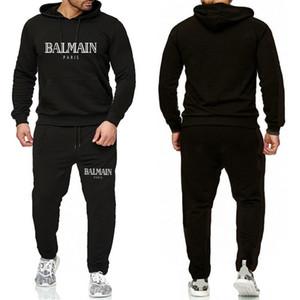 Balmain Anzug für Männer 2 Stück Set neue Art und Weise Jacke Sportkleidung Herren Anzug Hoodie Frühling und Herbst Kleidung Hoodies + Pants