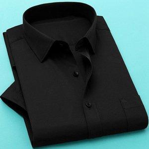 FAISIENS 11XL 12XL 13XL 14XL Grande Dimensione Uomo camicia gira giù manica corta solido Blu White Male Bussiness Camicie Casual