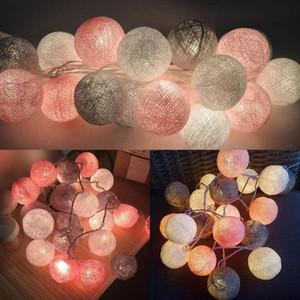 QYJSD 3 M CONDUZIU a Bola de Algodão Luz Corda Feriado de Casamento Festa de Natal Quarto Luzes de Fada Ao Ar Livre Decoração de Guirlanda De Luz