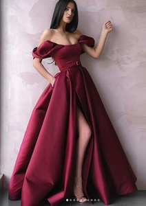 Elegante Robe De Soiree Largo Vino Rojo Sin tirantes Vestidos de noche Sin mangas Vestido De Festa Lace Up A-Line Satin Prom Gowns