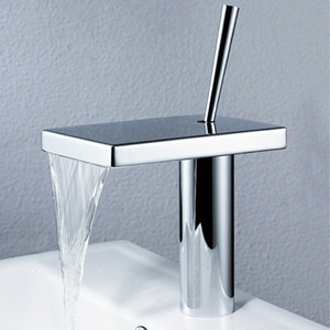 Chrome Brass Bathroom Waterfall Basin Faucet Single Hole Water Mixer
