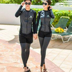 Paar Split Surfen schnell trocknend Schnorcheln Paar Tauchen Schwimmanzug Qualle Anzug Sonnenschutz Tauchen schwimmen