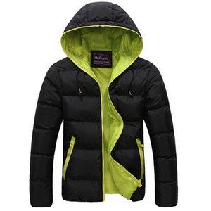 Mountainskin Kış Casual Yeni Kapşonlu Kalın yastıklı Ceket Fermuar İnce Erkekler Ve Kadınlar Coats Parka Dış Giyim