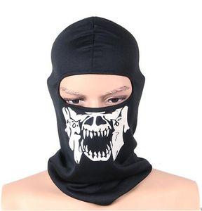 Taktik Tam Yüz Maskesi Balaclava Motosiklet Bisiklet Avcılık Açık Kayak Hayalet Kafatası Maskeleri Kostüm Kask Dec28