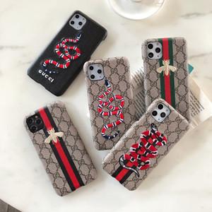 Marque Modèle Téléphone Case pour iPhone 11 11 pro max X Xs Xr Max 6 6s 7 8 plus créatif couverture arrière avec broderie Serpent Bee A03