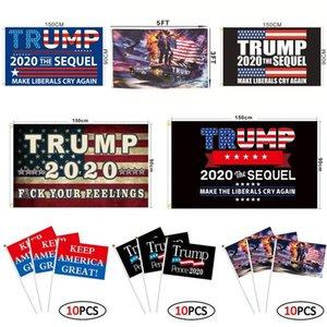 Trump Flag 90 * 150cm 55 Styles Biden Bernie Donald Trump 2020 Election présidentielle américaine réservoir Trump drapeaux à la main OOA8102