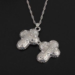 Cross Necklace Can Open Photo Frame Necklaces Pendants Open Box Charm Locket Necklace