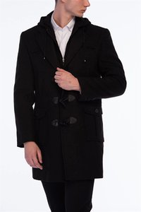 PLT8352 Outerwear & Coats Clothing DEWBERRY OVERCOAT BLACK PLT8352 Men's Outerwear & Coats Men's Clothing DEWBERRY OVERCOAT BLACK