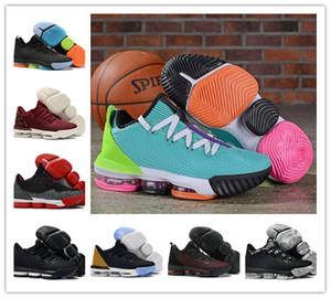 2019 Nouveaux Lebrons 16 Low Safari Kumquat Noir Hommes Basketball Chaussures LBJ 16s James SuperBron CI2668-001-100 CI3358-800 CK2168-600 avec la boîte