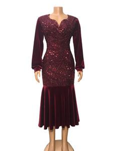 여자 디자이너 장식 조각 드레스 섹시한 솔리드 V 넥 드레스 캐주얼 여성 나이트 클럽 드레스