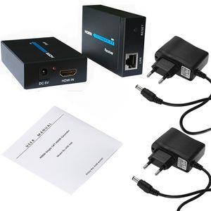 10set 60M 120M HDMI Extender 1080p 3D Signal amplifier expander Transmitter Receiver over Cat 5e 6 RJ45 Ethernet Converter