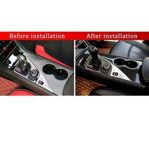 التصميم الداخلي للكربون الحقيقي 2014-2016-2018 Inner Gear Shift جديد غطاء جديد تقليم INFINITI الألياف Q50 PCMOS مقبض حماية