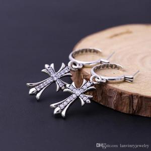 Новые серьги из стерлингового серебра 925 пробы в американском стиле, дизайнер ювелирных изделий, старинный серебряный крест, мотаться люстра подарок для женщин