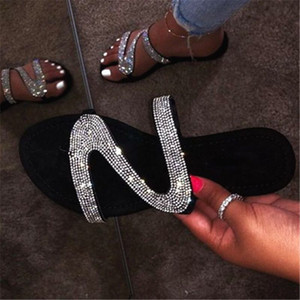 Summer shoes women sandals fashion bling slippers women shoes sandalias flats gladiator sandals women beach shoes female