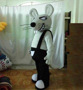 Venta de fábrica 2018 Descuento traje de la mascota de la rata de ventilación adulto gris ratón traje de la mascota