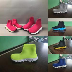 Nuovi bambini scarpe di tela di cotone tessuto stivali di moda alto solido - bassi ragazzi e ragazze di sport tessuto elasticizzato corridori scarpe di tela dei 24-35 corsa