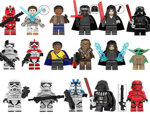 Mini figuras Space Wars superhéroes bloques 17pcs mucho builing por mayor bloques niños juguetes de regalo