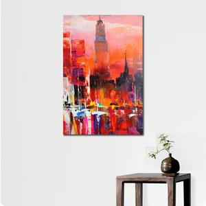 Vista astratta della pittura Città Dipinti Willem Haenraets olio orizzonte paesaggi arte dipinta a mano Home Decor