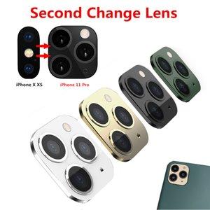 Version 2 Anwendbar für iPhone X XS MAX XR zweiten Wechsel-Objektiv für iPhone 11 Pro Max Objektiv Aufkleber Modified Kameraabdeckung Legierung zurück Fall