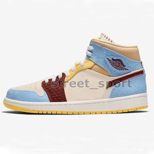 2020 Nuovo 1 di alta qualità media Scarpe Fearless pallacanestro donne Mens Sneakers Designer cestini 1s zapatos Maison Chateau Rouge Trainers