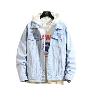 2019 homens Jacket Mens Denim Bomber Casual Jackets Men Alta Qualidade Homem Jean Vintage casaco Jacket Streetwear Chaqueta Hombre 3XL