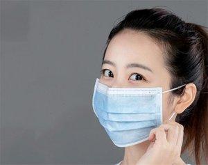 Fkxy Professional Fa 3 Camadas contra pó Máscaras er face facial inverno máscara Set DustBlack Azul