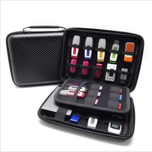 U Disk Hard Disk Storage Bag - Étui pour organiseur de câble USB Étui pour produits mini numériques, disque dur, clé USB, câble de données, carte bancaire