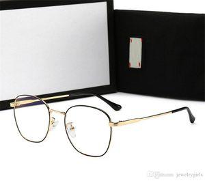 Brand Mens Woman Myopic Glasses Adumbral Luxury Sunglasses for Man Womens Plain Anti- Blue Light Glass High Quality with Box