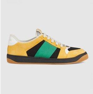 2019Newest ÇIÇEKLER TEKNIK KANAL YÜKSEK ÜST SNEAKERS Bayan Ünlü Tasarımcı Ayakkabı PVC Malzemeler ile en Kaliteli Dantel Up Sneakers