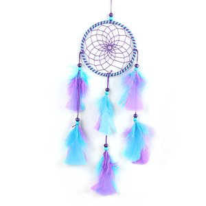 2019 Wind Chimes Handmade Indian Dream Catcher Net With Feathers Wall Hanging Dreamcatcher Craft Gift Home Decoration #BO