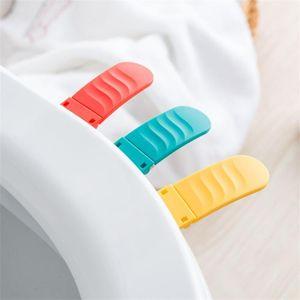 Pieghevole piccolo bagno Seat Cover Lifter vetrine anti sporco dispositivo Maniglia Accessori Bagno Rosso giallo creativo 1 7YD C1