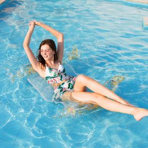 Verano Piscina flotante inflable agua Hamaca verano piscina inflable del flotador cama individual persona Sofá cama flotante HHA1305