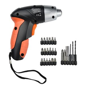 24Pcs 4.8V Electric Rechargeable Lightweight Cordless Screwdriver Drill Bits Kit Charger EU Electric Screwdrive Y200321