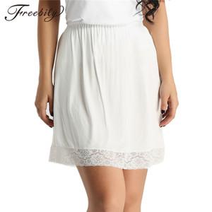 Женщины талии скольжению Леди Черный Белый Короткие Underskirt мягкие и удобные хлопок Длина 45см Petticoat Половина Slips Новый