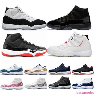 Newest 11 Men Basketball Shoes 11s Bred Concord 45 Cap and Gown Space Jam Mens Trainers Sports Sneakers Size 5.5-13 Drop Shipping