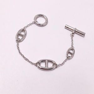 Горячий Luxury femle ювелирных дизайнер ювелирные изделия Женщина OT пряжки H Браслетов с свиным рылом любови браслет серебряных цветов моды шарм браслетами
