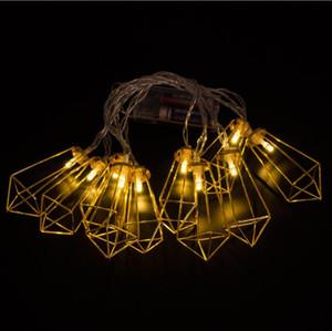 LED Metal Diamond Novità Light String 10 Led Battery Holiday Wedding Party Festival Home Tenda Decorazione Lampada 2M String