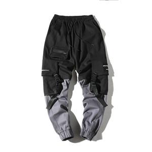 Hip Hop Mens matita di moda pantaloni cargo pantaloni Streetwear Maschio caviglia pantaloni Pant Tactics