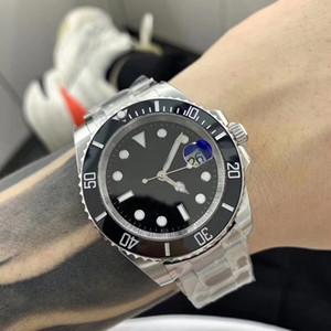 U1 Calidad automática de alta 2.813 hombres del movimiento del reloj NEGRO Disco secundario 316 inoxidable Correa de reloj masculino