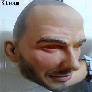 Sıcak Sıcak Ücretsiz kargo Cadılar Bayramı Partisi Cosplay Ünlü Adam David Beckham Yüz Maskesi Lateks Parti Gerçek İnsan Yüz Maskesi Serin gerçekçi maske