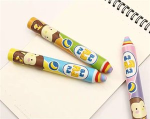 5 pieces Creative cartoon pencil modeling rubber erasers stationery rainbow super large pencil like leather children's prizes without debris